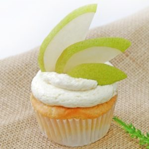 cupcake de pera